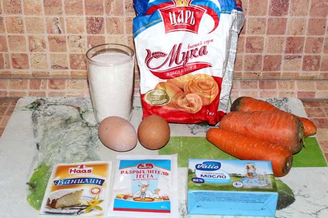 Ингредиенты для морковного кекса