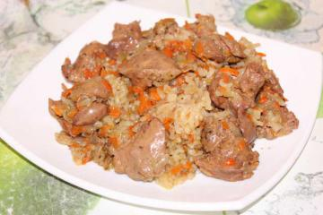 Говяжья печень с рисом