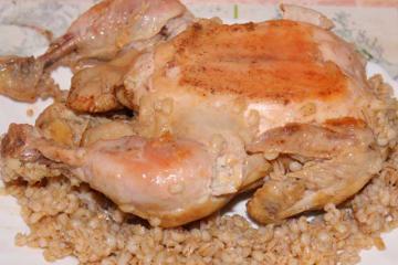 Курица жареная целиком