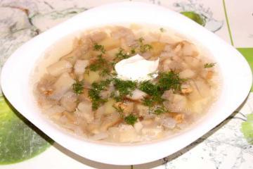 Вкусный грибной суп