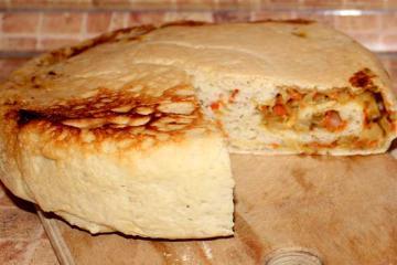 Вкусный дрожжевой пирог с капустой