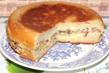 Дрожжевой пирог с рыбой