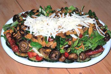 Салат с опятами