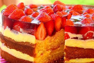 Вкусный желейный торт