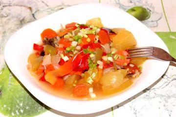 Постные овощные блюда