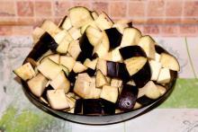 Заморозка нарезанных баклажанов