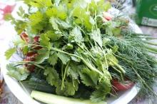 Зелень и овощи - источники хлорофилла