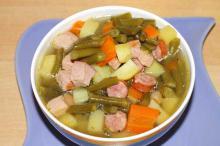 Суп с копченостями