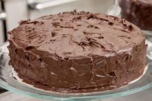 Торт из вафельных коржей с шоколадом