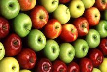 Красные, желтые, зеленые яблоки